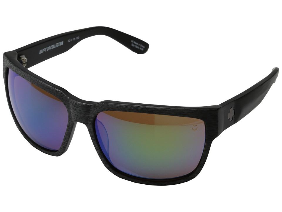 Spy Optic - Fore (Fore Woodgrain/Happy Bronze w/ Emerald Mirror) Sport Sunglasses