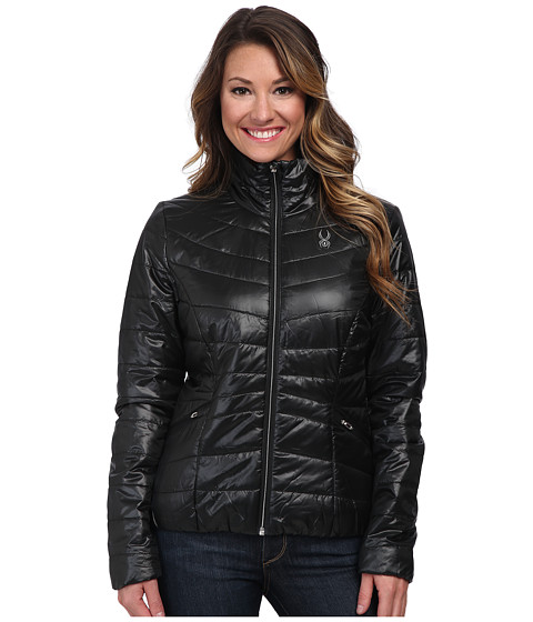 Spyder - Curve Sweater Weight Insulator Jacket (Black/Silver) Women's Coat