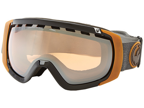 Dragon Alliance - Rogue (Carbon/Dark Smoke Blue+Yellow Blue) Snow Goggles