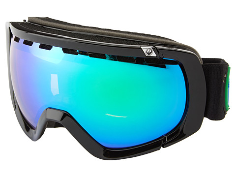 Dragon Alliance - Rogue (Jet/Green Ionized+Yellow Blue Ionized) Snow Goggles