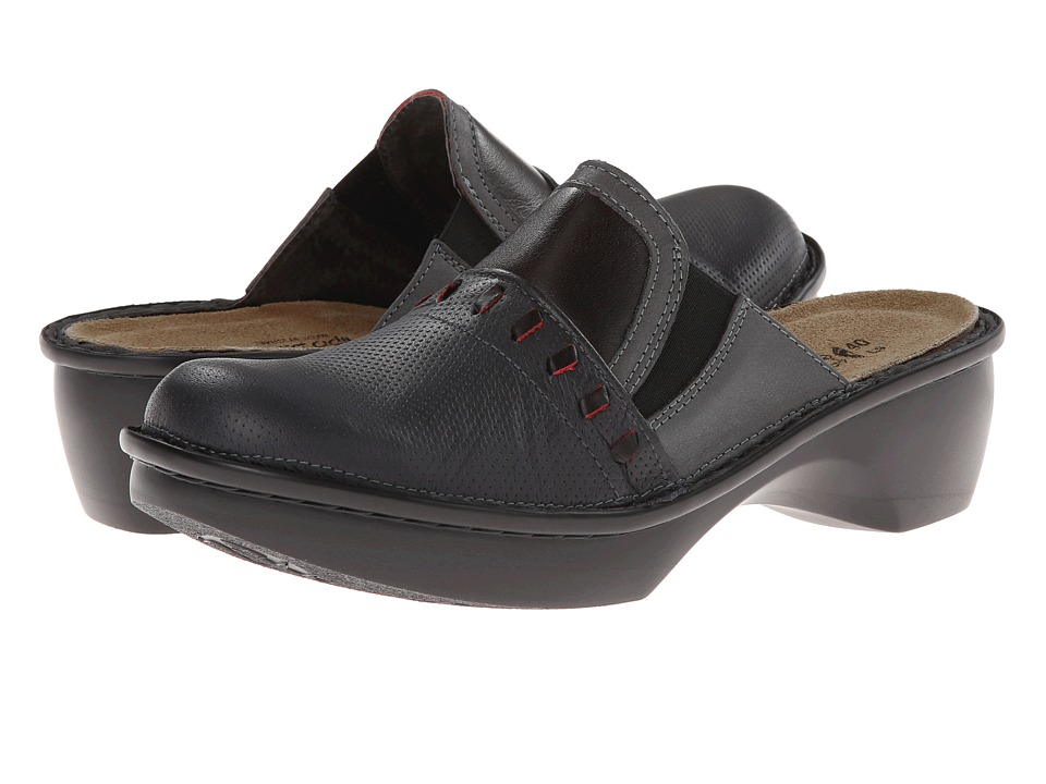 Naot Footwear - Recife (Onyx Leather/Shadow Gray Nubuck/Volcanic Red Leather) Women