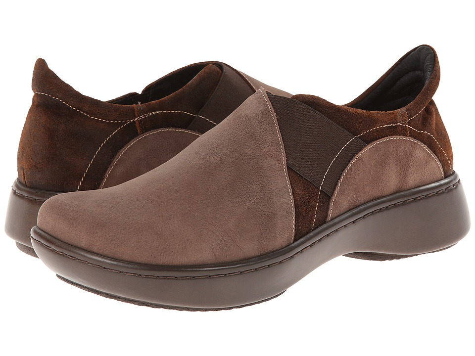 Naot - Atlantic (Carob Brown Leather/Seal Brown Suede) Women's Shoes