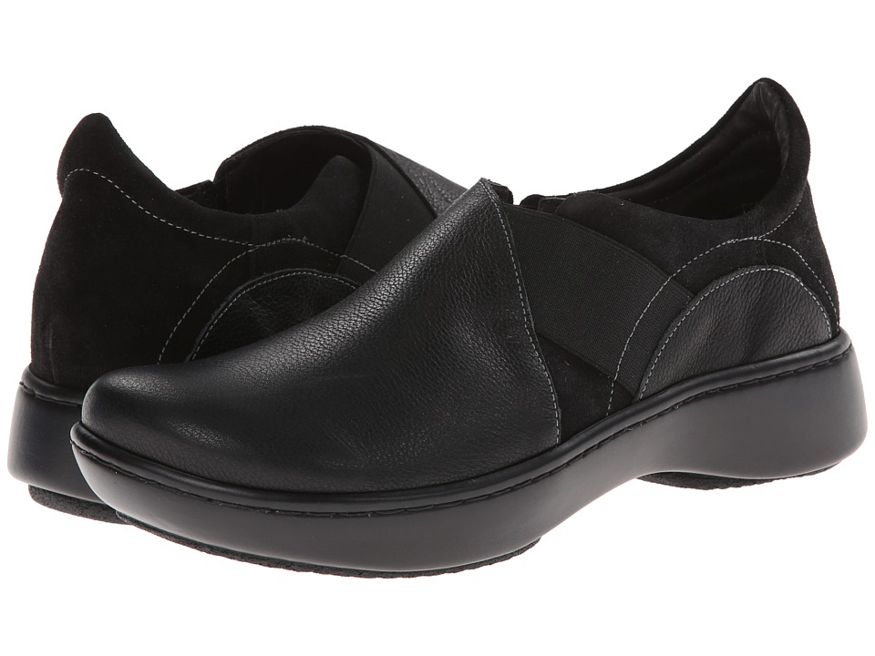 Naot Footwear - Atlantic (Caviar Leather/Black Suede) Women's Shoes