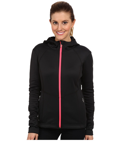 Spyder - Popstretch Fleece Jacket (Black/Bryte Pink/Black) Women's Coat