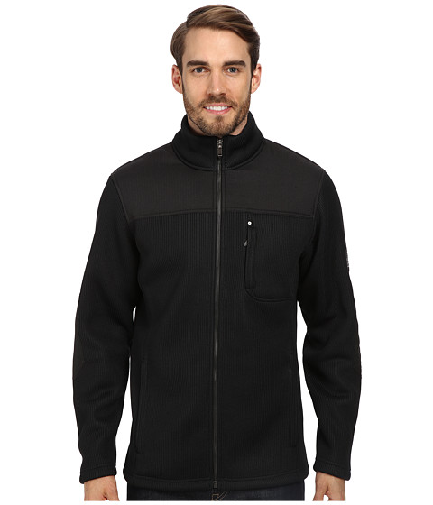 Spyder - Rambler GT Heavy Weight Core Sweater Jacket (Black) Men's Sweater