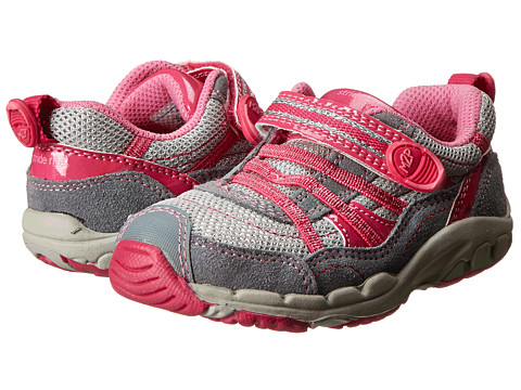 Stride Rite - M2P Baby Nikki (Toddler) (Grey/Pink) Girl's Shoes