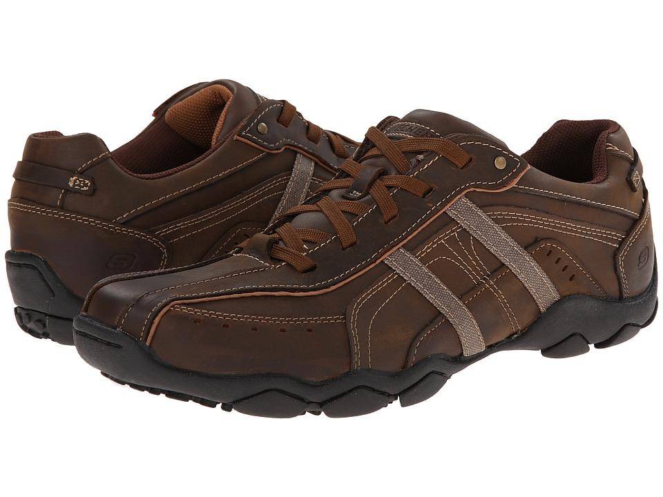 SKECHERS - Diameter 2 (Dark Brown) Men's Lace up casual Shoes