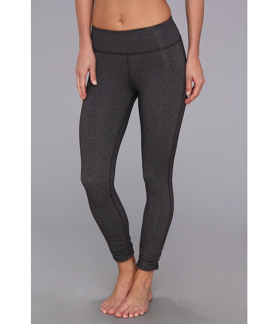 Beyond Yoga - Essential Gathered Legging (Heather Grey) Women's Casual Pants