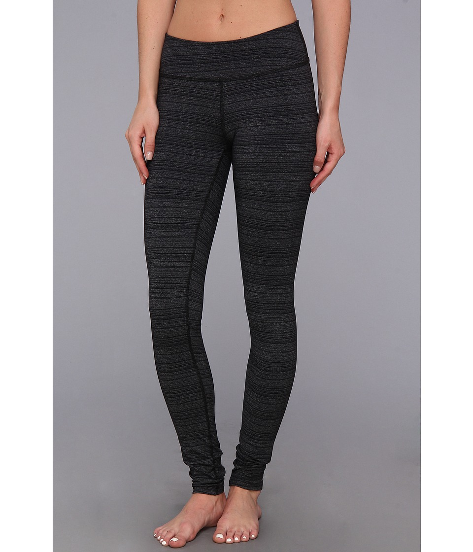 Beyond Yoga - Stripe Essential Long Legging (Black/Heather Grey Stripe) Women's Workout