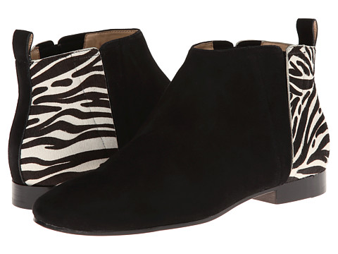Cole Haan - Embury Bootie (Black Suede/Zebra Haircalf) Women's Pull-on Boots