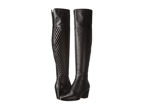 Cole Haan - Everly Over The Knee Boot (Quilted Black) Women's Zip Boots