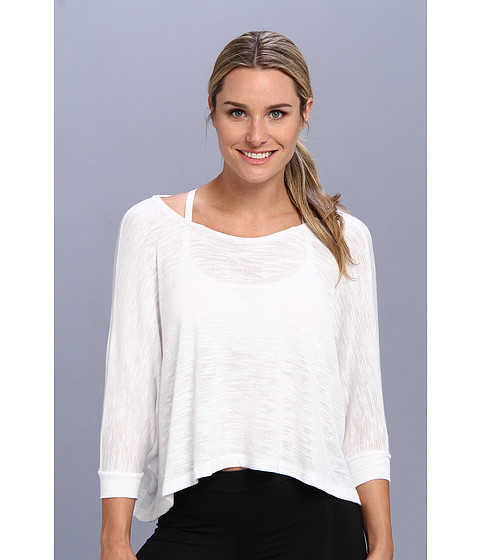 Beyond Yoga - Draped Boatneck Pullover (White) Women's T Shirt