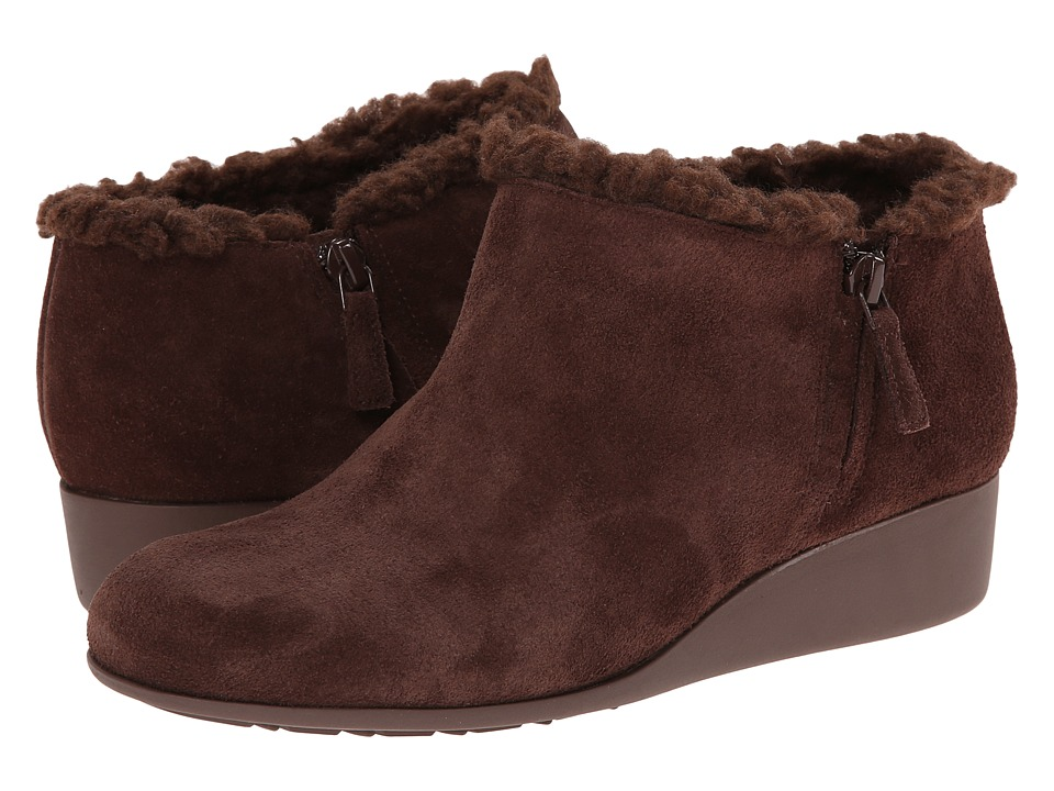 Cole Haan - Callie Slip On Shearling Waterproof (Chestnut Shearling) Women's Wedge Shoes