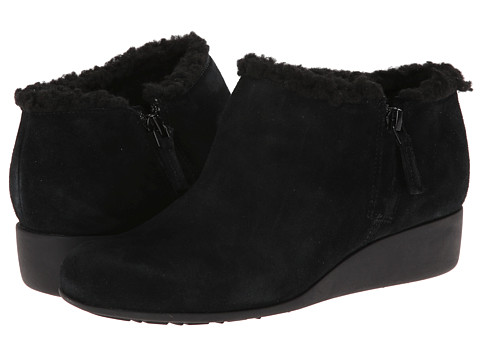 Cole Haan - Callie Slip On Shearling Waterproof (Black Shearling) Women's Wedge Shoes
