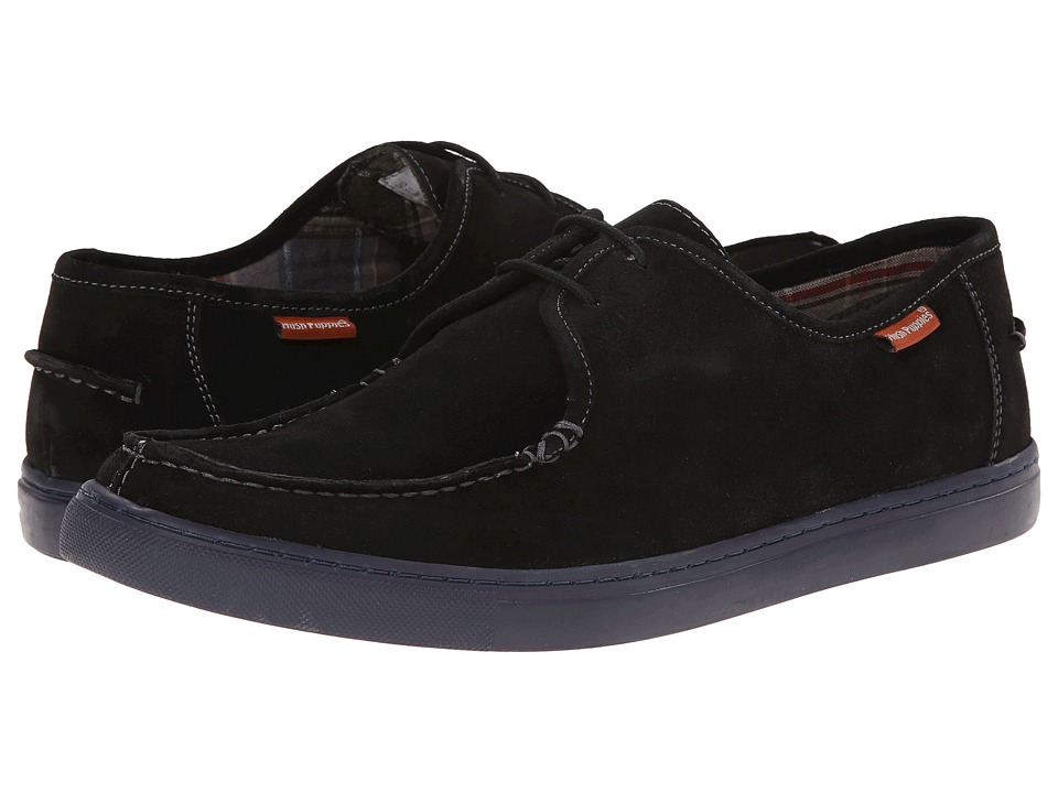 Hush Puppies - Warren Thorpe IIV (Black Suede) Men's Shoes