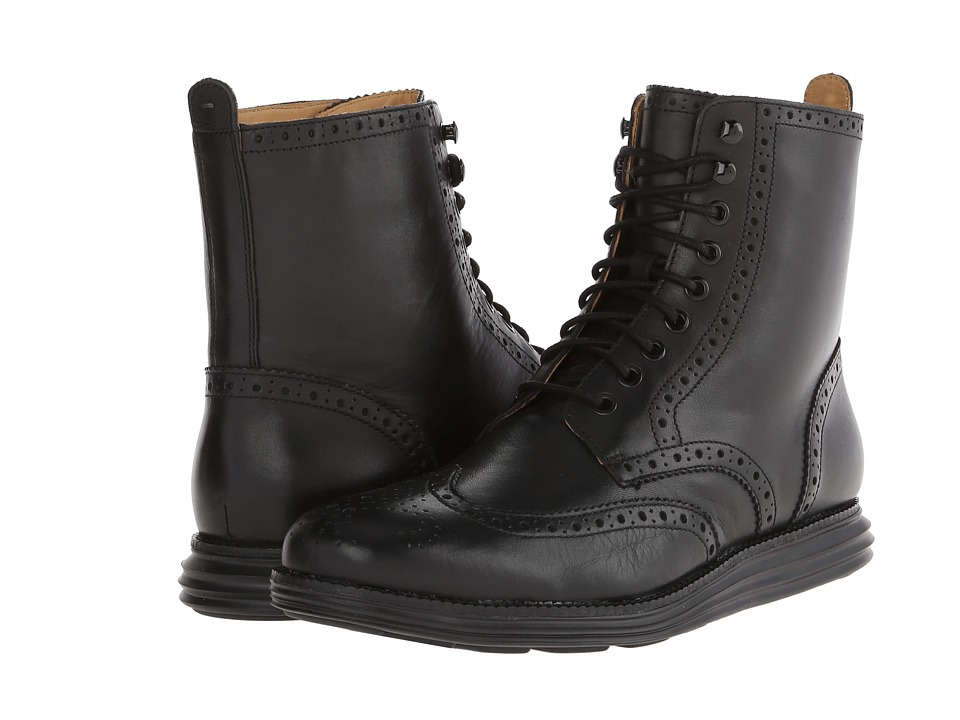 Cole Haan - Lunargrand Wing Boot (Black) Men