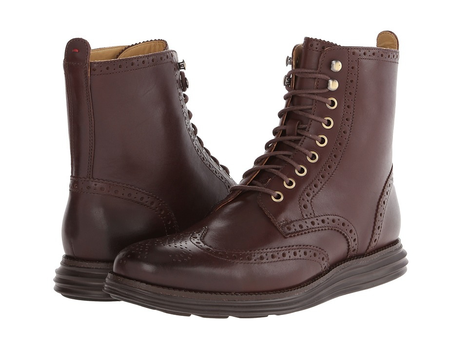 Cole Haan - Lunargrand Wing Boot (Chestnut) Men's Lace-up Boots