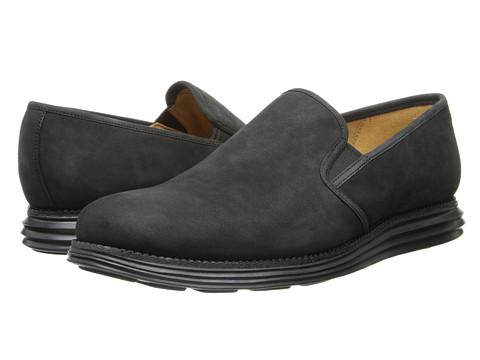 Cole Haan - Lunargrand Two Gore (Black) Men's Slip on Shoes