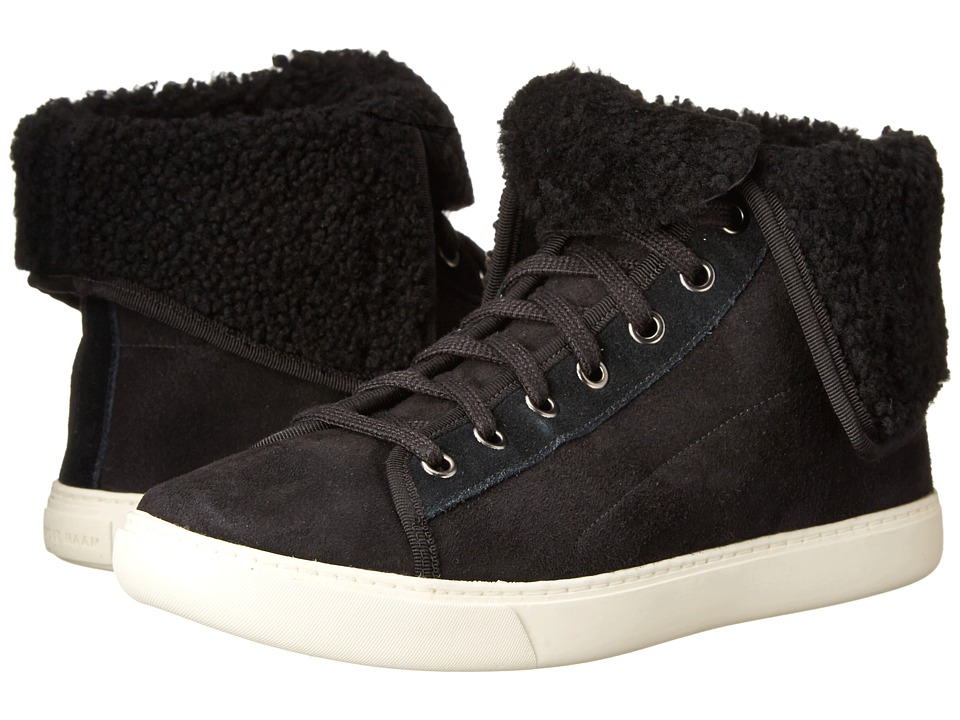 Cole Haan - Raven Hightop Sneaker (Black Shearling) Women's Lace up casual Shoes