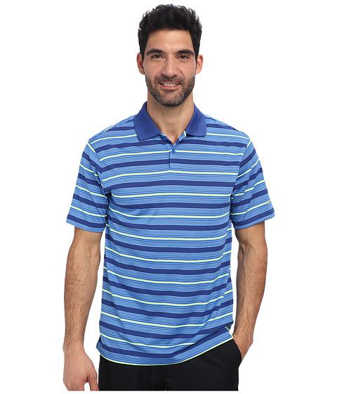 Nike Golf - Ultra Stripe Polo (Heritage Blue/Metallic Silver) Men