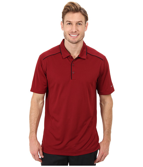 Nike Golf - Key Iconic 2.0 Polo (Team Red/Black) Men's Short Sleeve Pullover