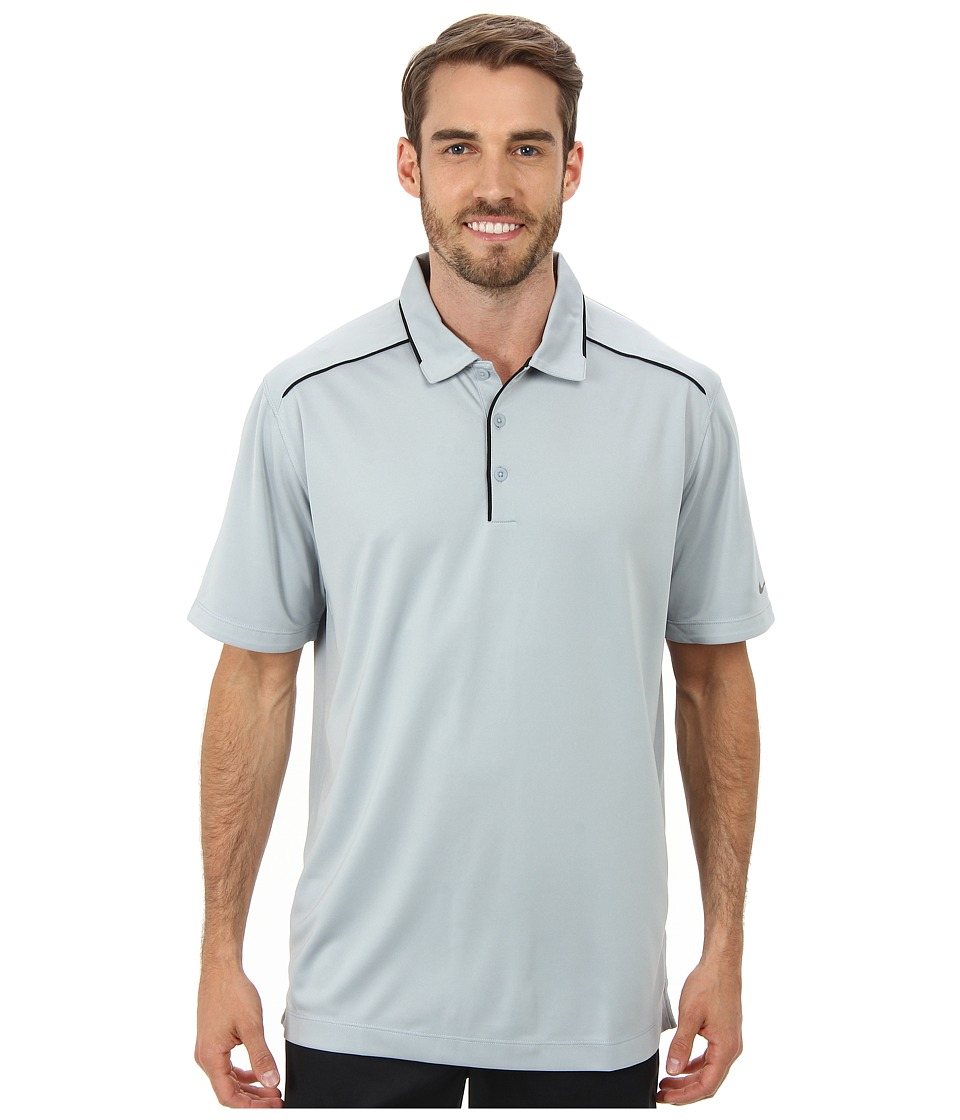 Nike Golf - Key Iconic 2.0 Polo (Light Magnet Grey/Black) Men's Short Sleeve Pullover