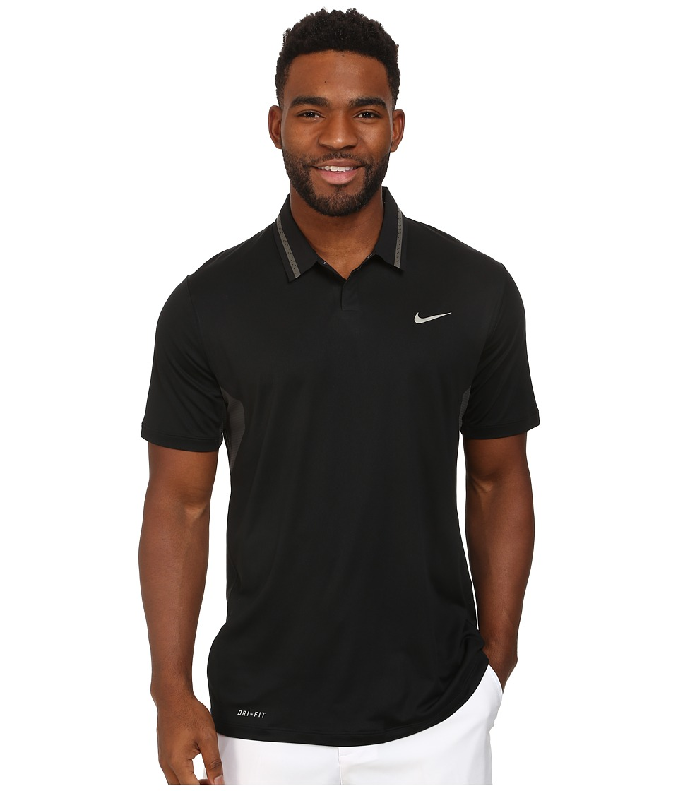 Nike Golf - Tiger Woods Ultra Polo 3.0 (Black) Men's Short Sleeve Knit