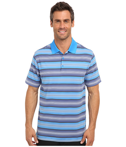 Nike Golf - Key Stretch UV Stripe Polo (Photo Blue) Men