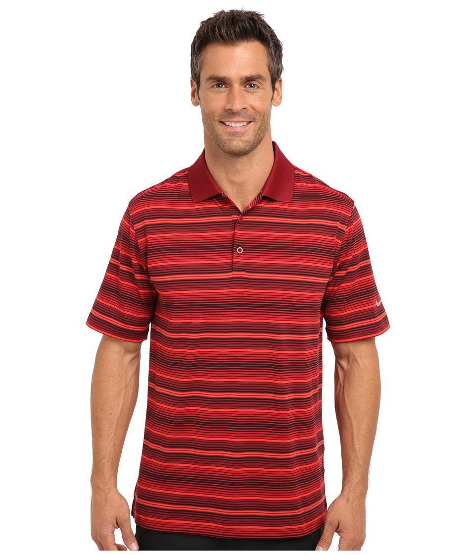 Nike Golf - Key Stretch UV Stripe Polo (Team Red) Men