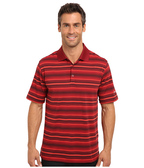 Nike Golf - Key Stretch UV Stripe Polo (Team Red) Men's Short Sleeve Knit