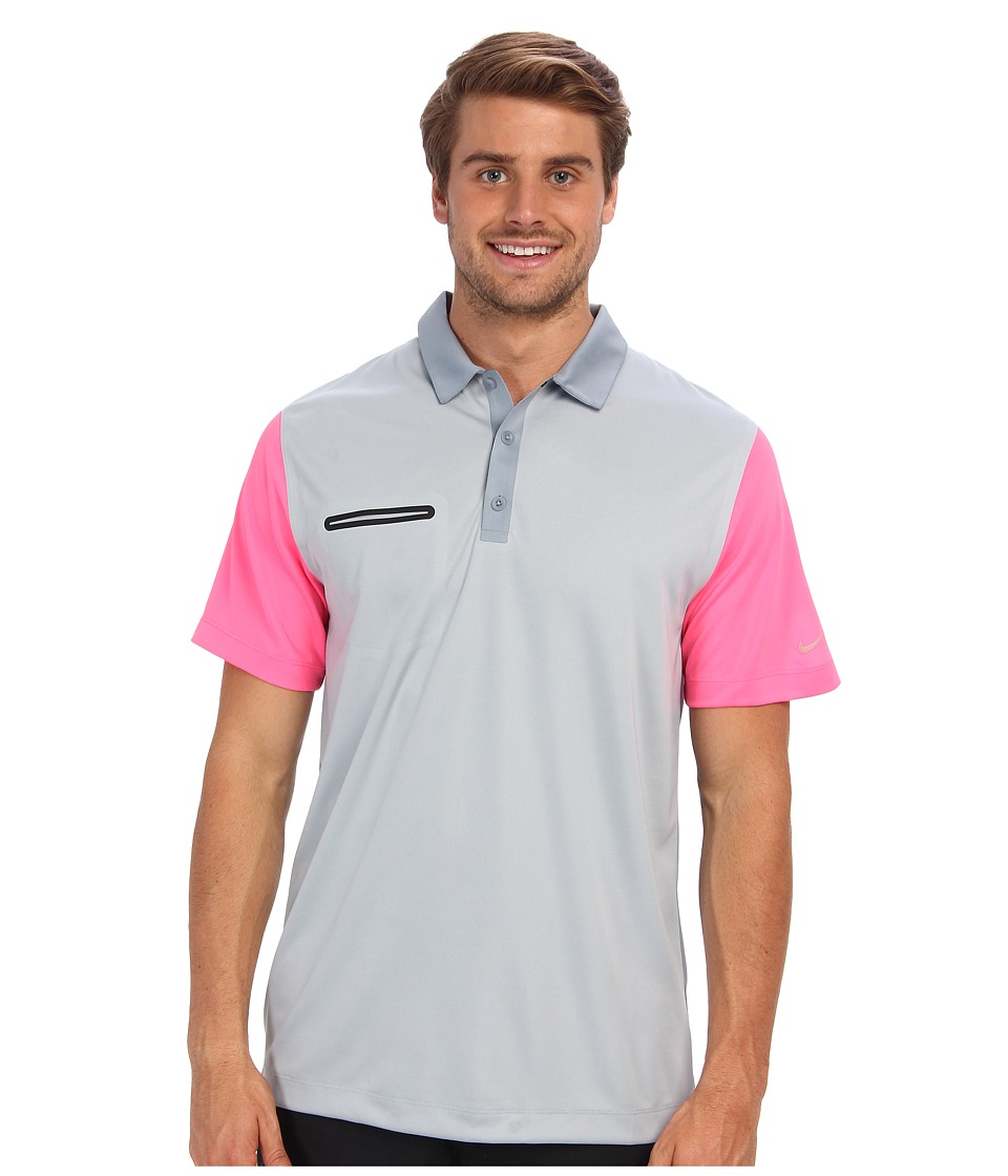 Nike Golf - Lightweight Innovation Color Polo (Light Magnet Grey/Hyper Pink) Men's Short Sleeve Knit