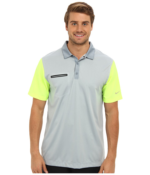 Nike Golf - Lightweight Innovation Color Polo (Light Magnet Grey/Volt) Men's Short Sleeve Knit