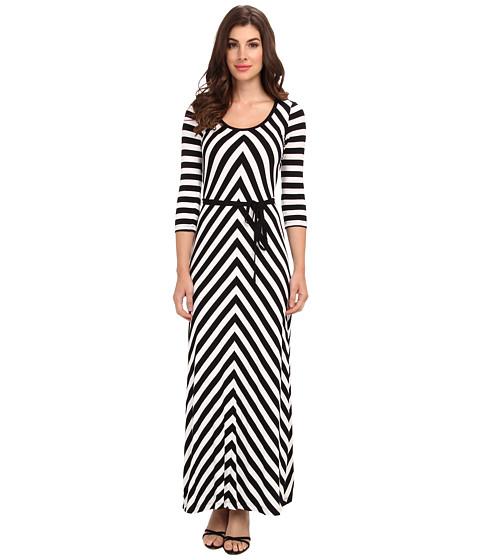 Calvin Klein - Rayon Span Mitered Maxi (Black/White) Women