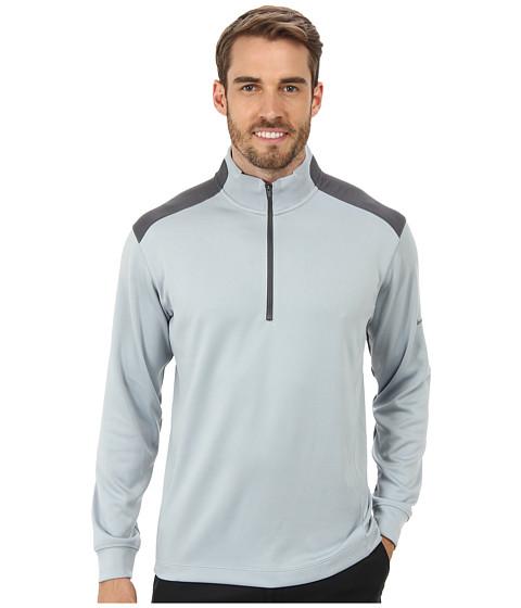 Nike Golf - Dri-FIT Performance 1/2 Zip Pullover (Light Magnet Grey/Dark Grey/Metallic Silver) Men's Long Sleeve Pullover