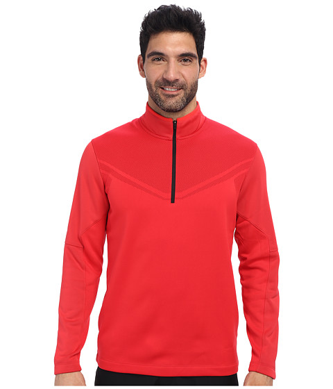 Nike Golf - Hypervis 1/2 Zip Cover-Up (Action Red/Black) Men
