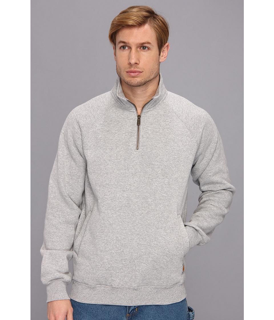 Carhartt - MW Qtr Zip Mock Neck Sweatshirt (Heather Gray) Men's Sweatshirt