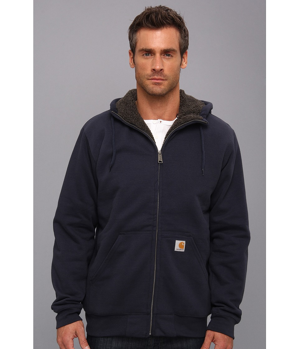 Carhartt - Brushed Fleece Sweatshirt Sherpa Lined (New Navy) Men's Coat