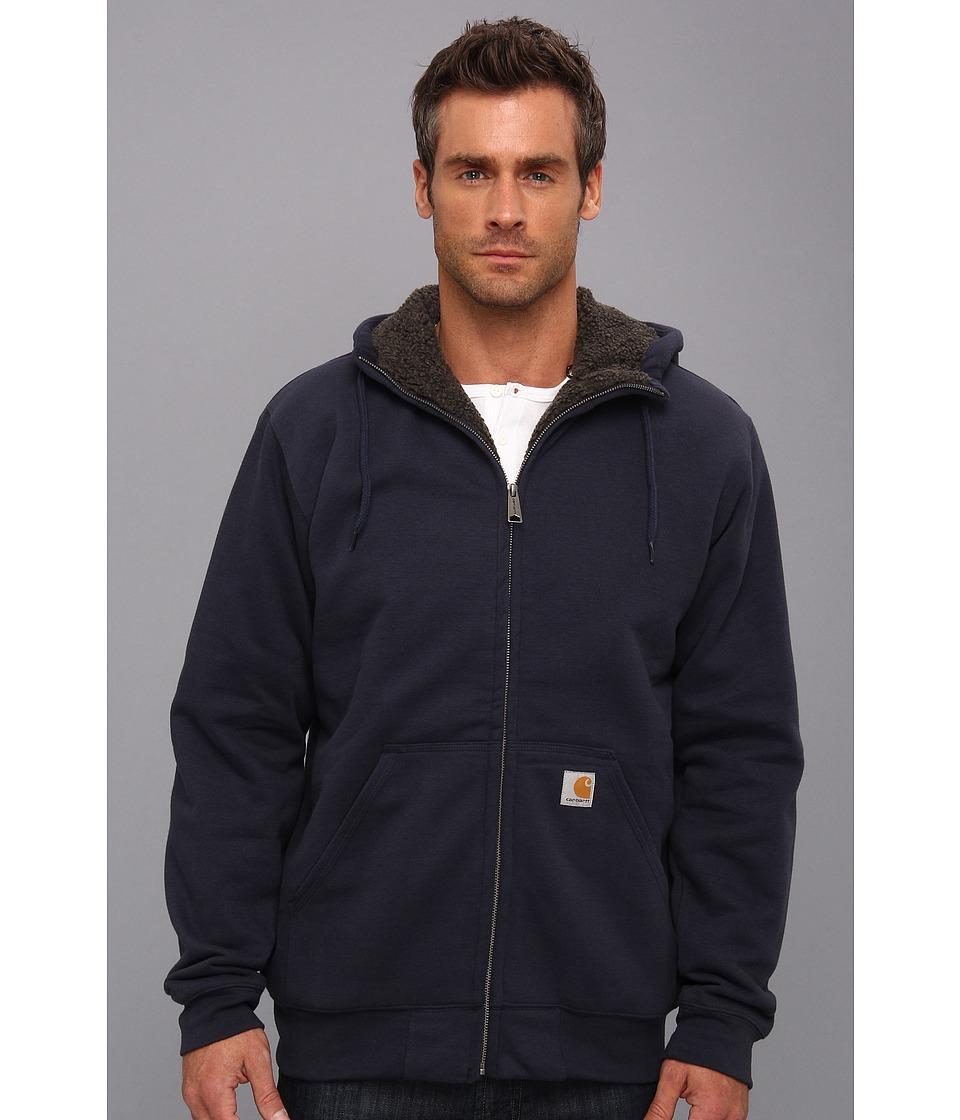 Carhartt - Brushed Fleece Sweatshirt Sherpa Lined (New Navy) Men's Coat