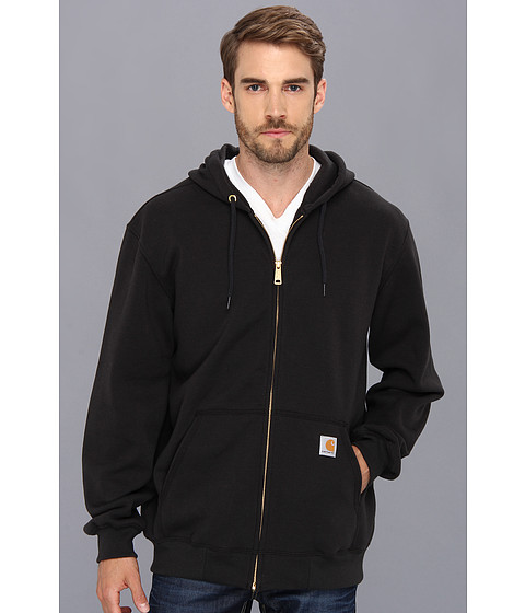 Carhartt - Big Tall Midweight Hooded Zip Front Sweatshirt (Black) Men
