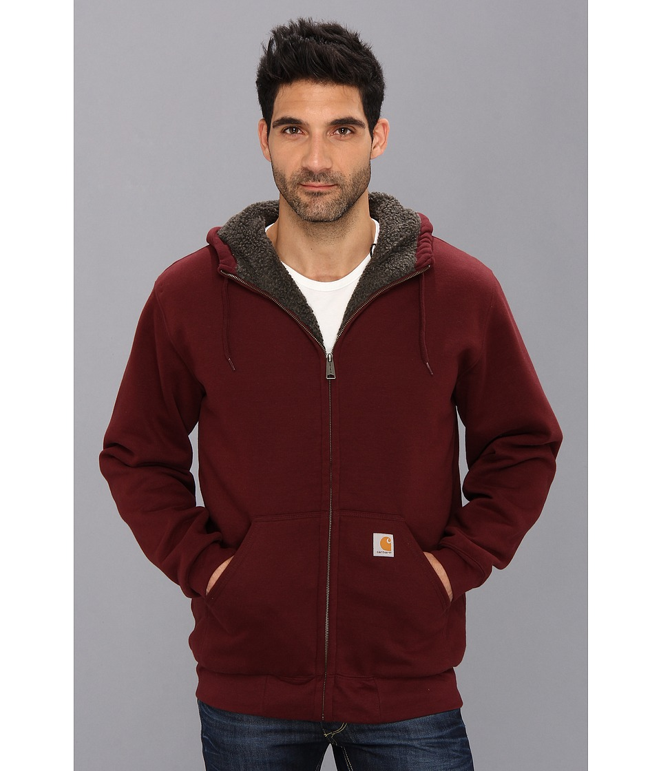 Carhartt - Brushed Fleece Sweatshirt Sherpa Lined (Port) Men's Coat
