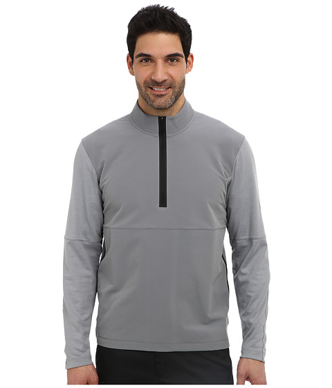 Nike Golf - Dri-FIT Wool Tech Protect Cover-Up (Cool Grey/Dark Grey Heather/Black/Metallic Silver) Men's Long Sleeve Pullover