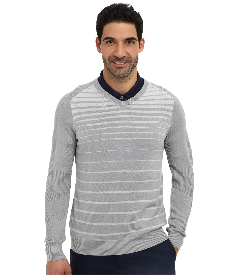 Nike Golf - 3D V-Neck Sweater (Wolf Grey/Neutral Grey/Metallic Silver) Men's Long Sleeve Pullover