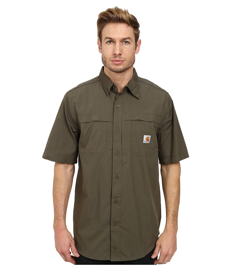Carhartt - Force Mandan Solid S/S Woven (Moss) Men's Clothing