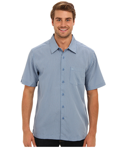 Quiksilver Waterman - Red Rock Cove Woven Top (Wave) Men's Short Sleeve Button Up