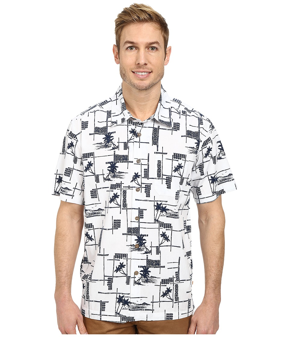 Quiksilver - Bayview Woven Top (White) Men's Clothing