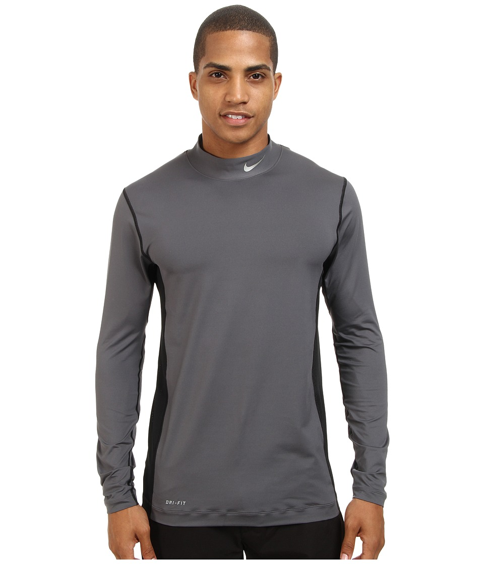 Nike Golf - Nike Golf Core L/S Base Layer (Dark Grey/Metallic Silver) Men's Clothing