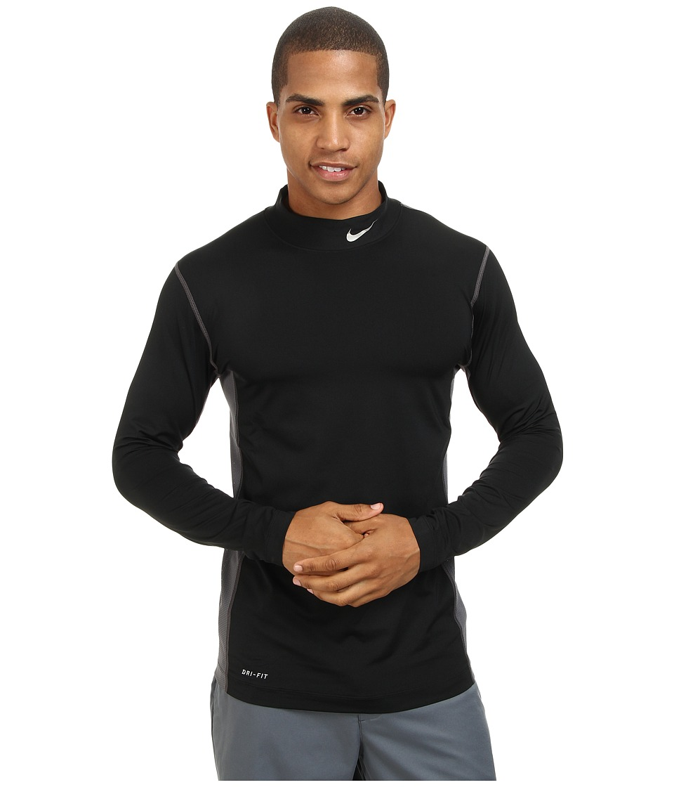 Nike Golf - Nike Golf Core L/S Base Layer (Black/Metallic Silver) Men's Clothing