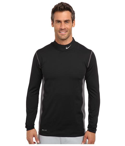 Nike Golf - Nike Golf Hyperwarm Mock (Black/Metallic Silver) Men's Long Sleeve Pullover