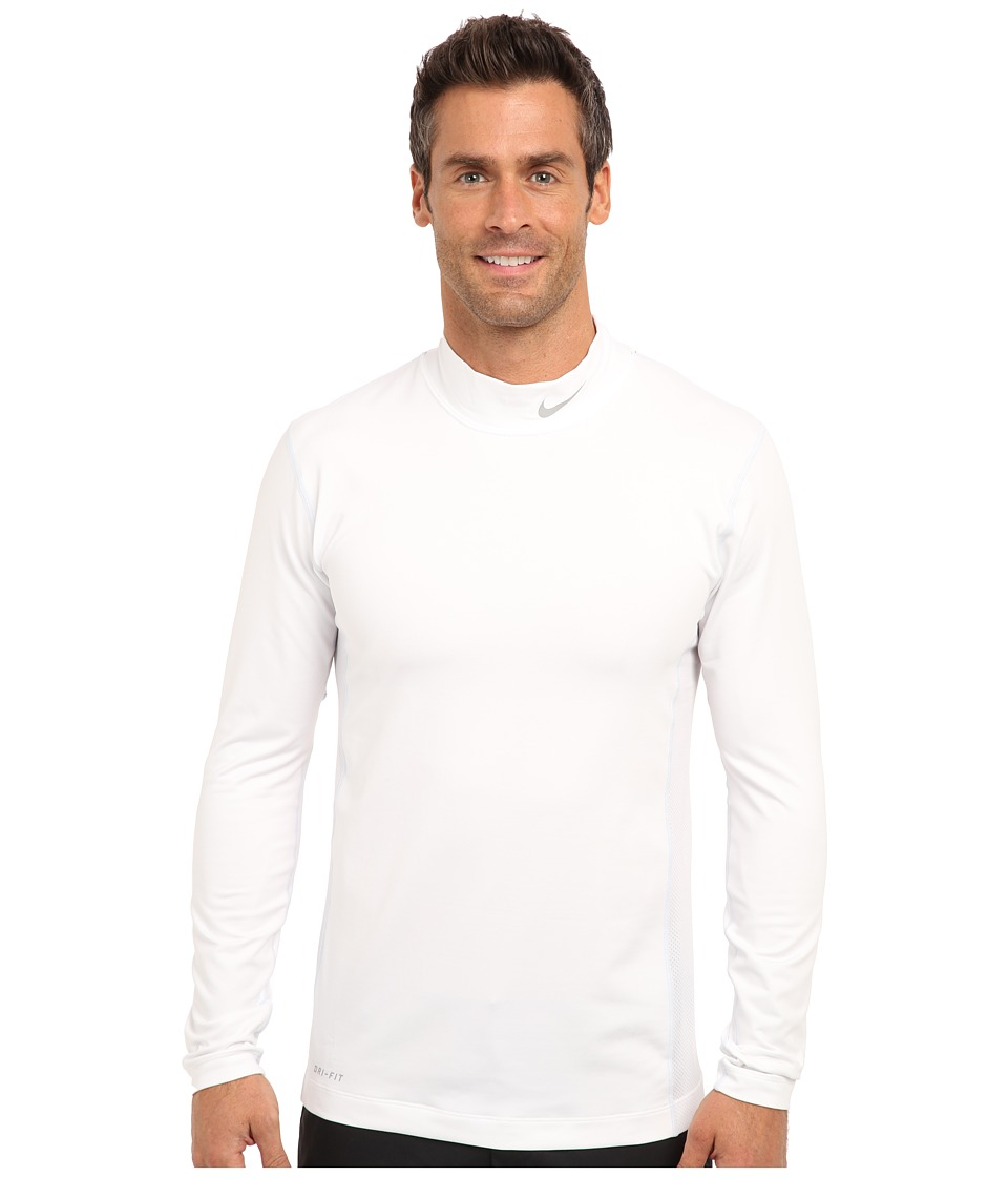 Nike Golf - Nike Golf Hyperwarm Mock (White/Metallic Silver) Men's Long Sleeve Pullover