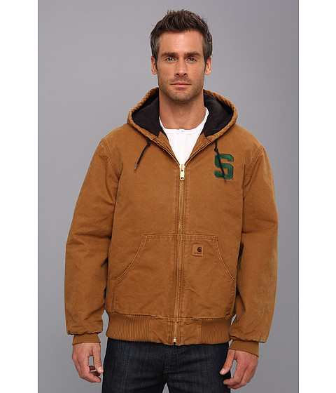 Carhartt - Michigan St QFL Sandstone Active Jacket (Carhartt Brown) Men's Coat